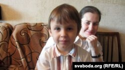 Алена Церашкова разам з сынам Кандратам