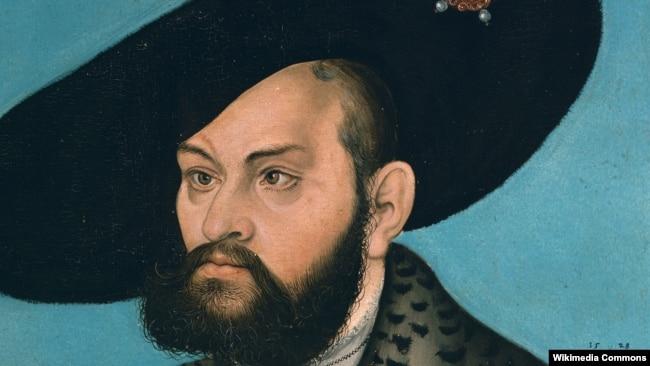 Люкас Кранах-старэйшы. Партрэт прускага герцага Альбрэхта.