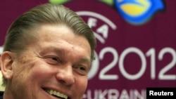 Главный тренер футбольной сборной Украины Олег Блохин