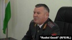 Начальник УМВД по Хатлонской области РТ Искандар Солехзода.