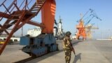 A Pakistan soldiers is seen at the Gwadar port in Pakistan's Balochistan Province April 12, 2016.