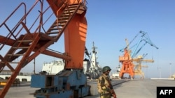 The Gwadar port in Pakistan's southwestern Balochistan province.