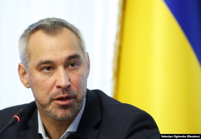 Outgoing Ukrainian Prosecutor-General Ruslan Ryaboshapka (file photo)
