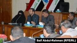 من جلسة مجلس محافظة واسط لإستجواب المحافظ