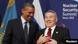 Нурсултан Назарбаев жана АКШ президенти Барак Обама