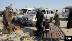 Последствия одного из взрывов в Ираке