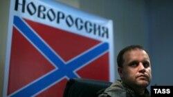 Украинаның шығысындағы Донецк қаласындағы ресейшіл сепаратистер лидері Павел Губарев.