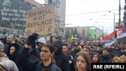 Protest protiv migranata u Beogradu 8. marta