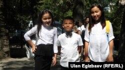 Мектеп окуучулары, Бишкек