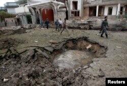 Последствия нападения на конульство Индии в Джелалабаде. 3 августа 2013 года