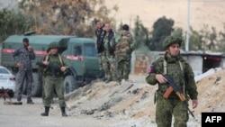 Российская военная полиция в окрестностях Дамаска, на границе с анклавом Восточная Гута, 9 марта 2018