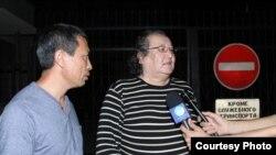 Болат Атабаев сразу после освобождения