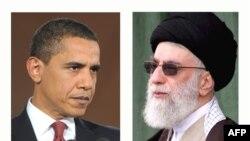 علی خامنهای، رهبر جمهوری اسلامی، و باراک اوباما، رئیس جمهور آمریکا
