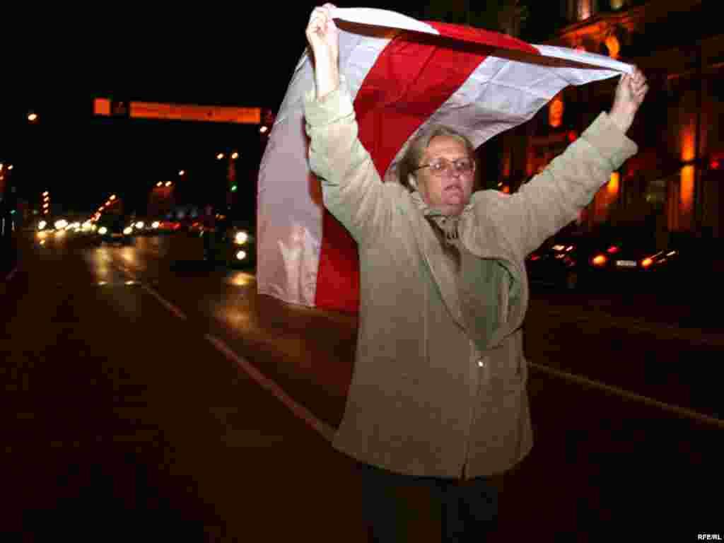 В Минске белорусская оппозиция провела митинг протеста против фальсификации парламентских выборов, 28 сентября 2008.