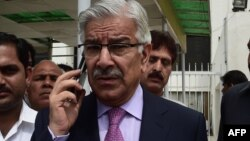 Pakistani Defence Minister Khawaja Asif (file photo)