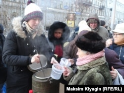 """Еда вместо бомб"" в Санкт-Петербурге"