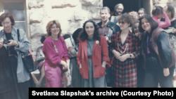 Всемирный конгресс женщин-писательниц, Дубровник, март 1986. Светлана крайняя слева