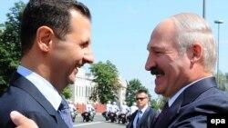 Асад і Лукашэнка ў Менску 26 ліпеня 2010.