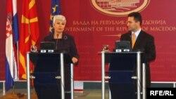 Премиерите на Хрватска и Македонија, Јадранка Косор и Никола Груевски