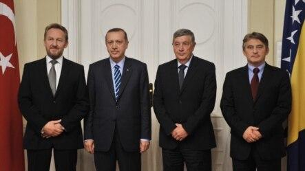 Turski premijer sa članovima Predsjedništva BiH, Sarajevo, 14. septembar 2012.