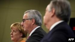 Angela Merkel, Jean Claude Juncker, i UNHCR šef Antonio Guterres