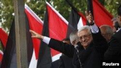 "Президент Палестины Махмуд Аббас, член движения ""Фатх""."