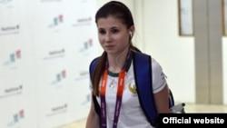 Узбекская гимнастка Луиза Галиулина.