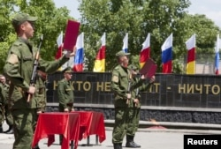 Оңтүстік Осетия әскері. Цхинвали, 5 шілде 2015 жыл.