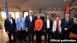 Скопје- Високата европска претставничка Федерика Могерини на вечера со премиерите на шест балкански земји, 18.04.2018