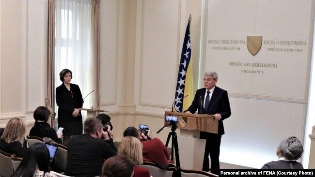 Šefik Džaferović u obraćanju novinarima 19. februar: 'Dejton nije jelovnik da iz njega uzimate šta vam odgovara i ne uzimate šta vam ne odgovara.'