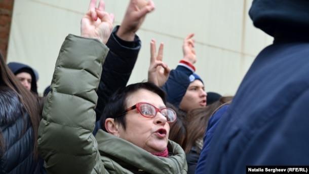 Протесты в Кишиневе против итогов выборов 13 ноября