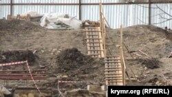Демонтированный участок Большой Митридатской лестницы в Керчи