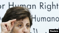 Iran's Nobel Peace Prize Laureate Shirin Ebadi (file photo)