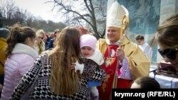 Пасхальное богослужение в Севастополе, 1 апреля 2018 год