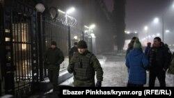 Под посольством России в Украине, 25 ноября 2018 года