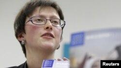 Human Rights Watch ұйымының Мәскеу кеңсесінің басшысы Татьяна Локшина. Мәскеу, 23 қаңтар 2012 жыл.