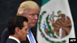 Дональд Трамп и президент Мексики Энрике Пенья Ньето