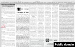 Screenshot of Zarei's article.
