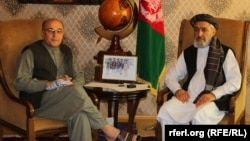نسیم شفق خبرنگار رادیو آزادی با محمد انور خان اسحاقزی والی لوگر