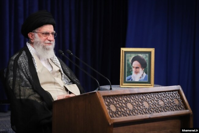 Iranian Supreme Leader Ayatollah Ali Khamenei has the last say on all matters in his country.