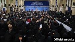 "Ayatollah Khamenei met with the families of war veterans and ""martyrs""-- 12 Dec 2018"