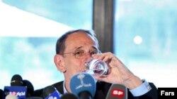خاویر سولانا، نماینده گروه پنج به علاوه یک که طرف اصلی مذاکره با ایران در پرونده اتمی این کشور است.(عکس: فارس)