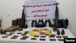 Arms and ammunition allegedly discovered from terrorist groups in Iran's West Azarbaijan Province. May 6, 2020