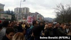 Protest ispred Vlade Federacije BiH