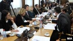 Седница на собраниската Комисија за уставни прашања.