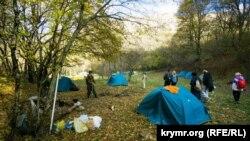 Палаточный городок у Иосафатовой долины