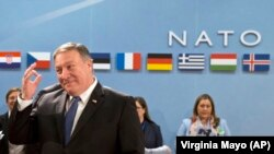 U.S. Secretary of State Mike Pompeo visited NATO headquarters in a sign of Western solidarity.