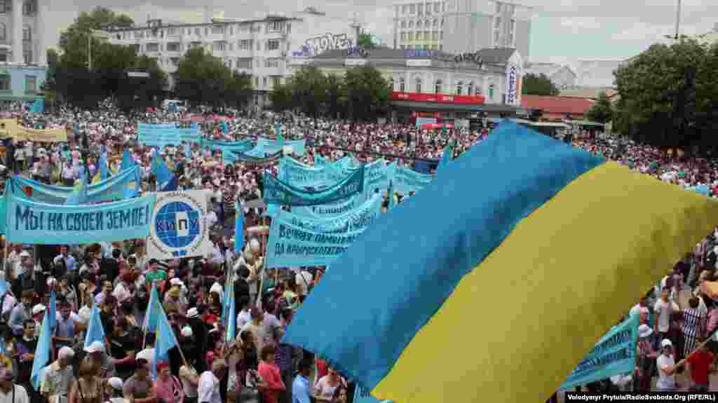 Жалобний мітинг до 69-ї річниці депортації кримських татар, Сімферополь, 18 травня