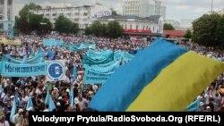 У Сімферополі пройшов жалобний мітинг до 69 річниці депортації кримських татар