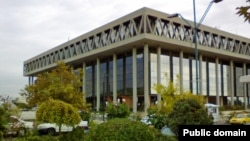 The main building of Iranian state TV in Tehran built in late 70s..
